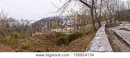 Panorama. View of the Kiev-Pechersk Lavra. 12.11.2016.Kiev.Ukraine.