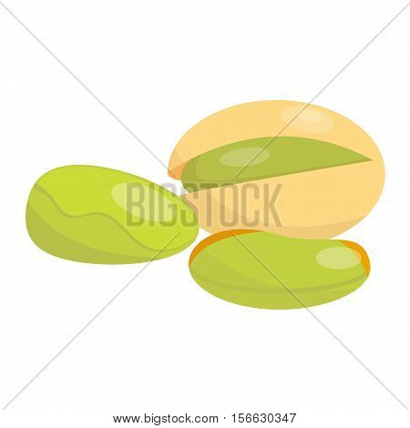 Heap of various kinds of nuts. Pile of nuts pistachios nut isolated on white. Pile of nuts organic healthy seed ingredient and pile of nuts heap nature nuts.
