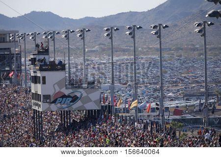 Avondale, AZ - Nov 13, 2016: Fans fill the stands during  the Can-Am 500(k) at the Phoenix International Raceway in Avondale, AZ.