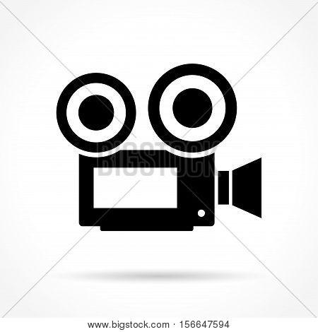 Illustration of camera icon on white background