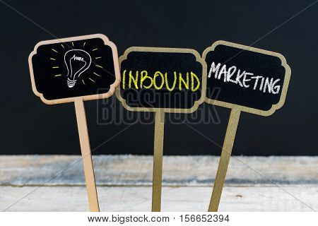 Concept Message Inbound Marketing And Light Bulb As Symbol For Idea