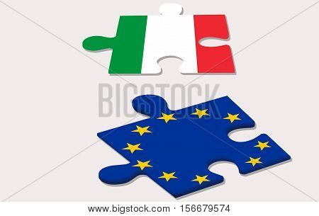 two piece of puzzle and costitutional referendum in italy
