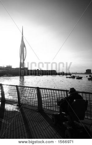 Elderly Man At Portsmouth