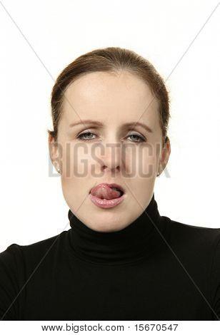 portrait studio woman