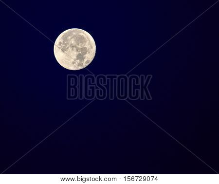 Super Moon (November 14 2016) 14% larger 30%brighter also known as the beaver moon