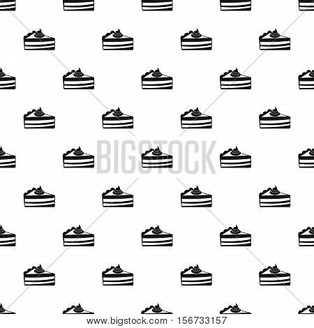 Piece of cake pattern. Simple illustration of piece of cake vector pattern for web