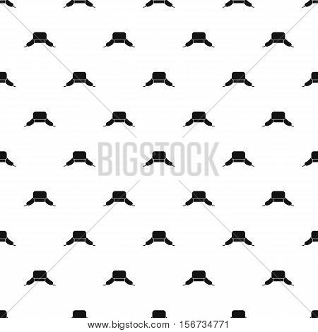 Hat with ear flaps pattern. Simple illustration of hat with ear flaps vector pattern for web