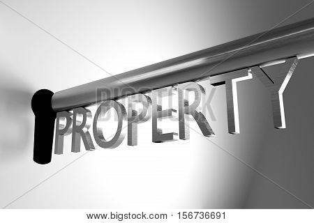 metal key lock keyhole property 3D Illustration