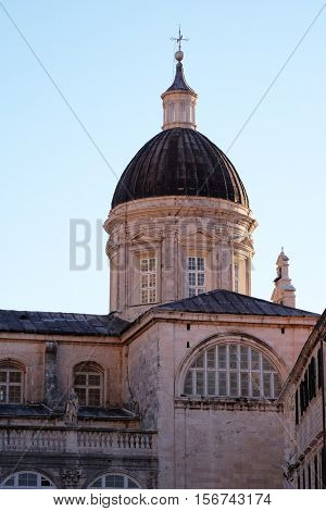 DUBROVNIK, CROATIA - NOVEMBER 29: Cathedral Assumption of the Virgin Mary in Dubrovnik, Croatia on November 29, 2015.