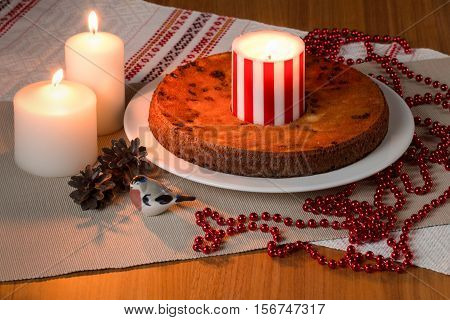 Handmade Pie With Candles