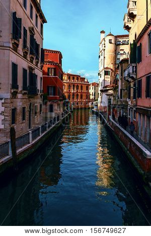 Venice - pearl of Italy an ancient city situated on 118 Islands separated by 160 streets-channels and countless small channels