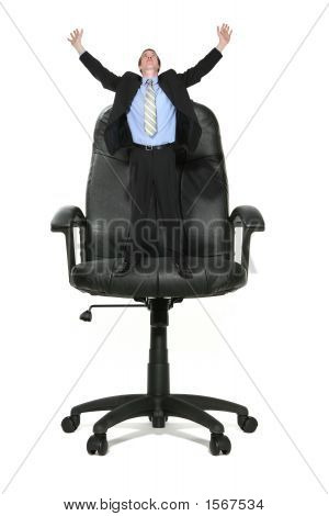 Business Man On Chair