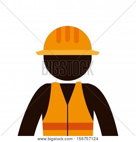 builder constructor character icon vector illustration design