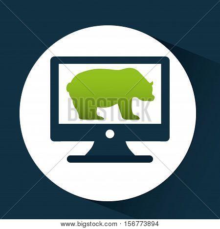 concept stock exchange bear icon design vector illustration eps 10