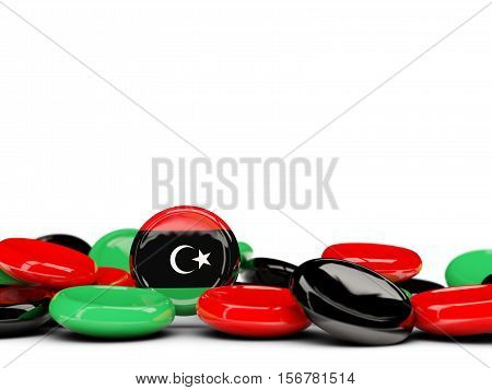 Flag Of Libya, Round Buttons