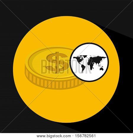 global business currency concept icon vector illustration eps 10