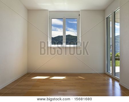 empty internal view