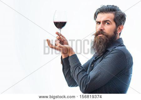 Bearded Man With Wine