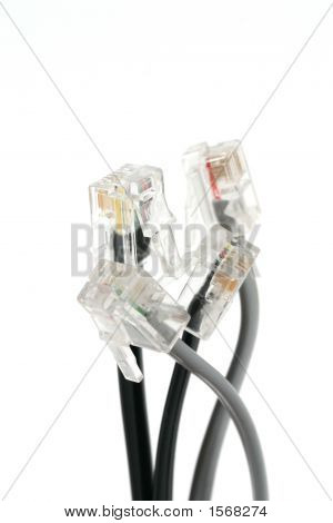 Group Of Dls Cables On A White Background