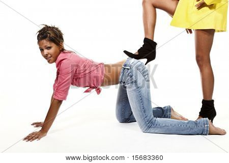 funny girls portrait