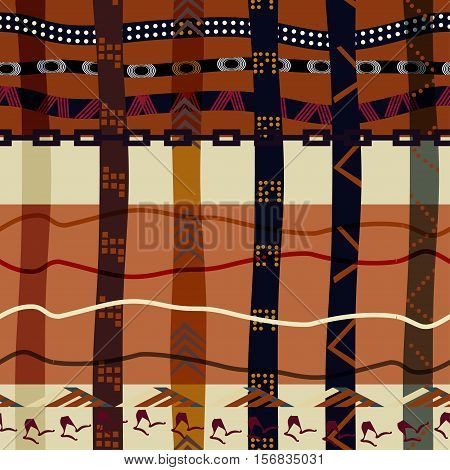 Seamless tribal texture. Bright ethno style background