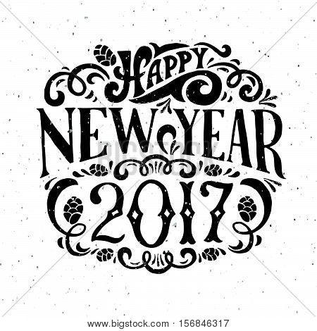 Vector Illustration Of New Year 2017 Logotype