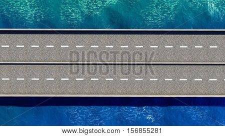 Bridge over the ocean 3d rendering outdoors, transportation, bay, vacation