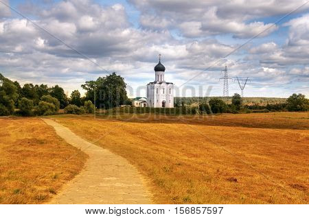 Church of the Intercession on the Nerl. Bogolyubovo Vladimir region Golden Ring of Russia