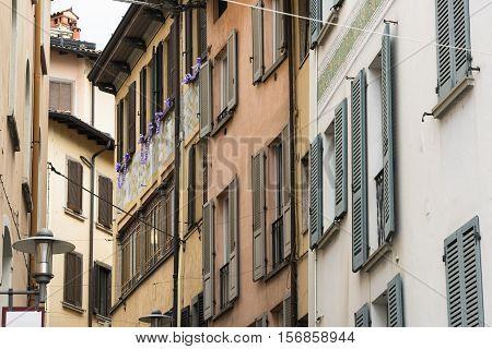 Lovere (Bergamo Lombardy Italy): along the Iseo lake: old street