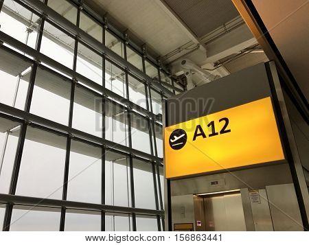 Airport departure gate