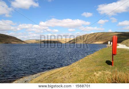 The Claerwen Reservoir, Elan Valley, Wales.
