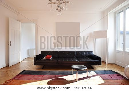 nice apartment refitted, living-room furniture retro