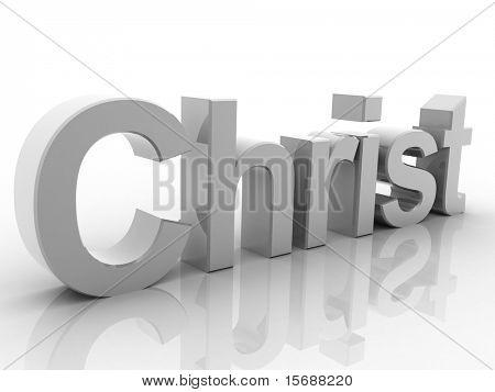 Digital illustration of Christian in 3d on white background