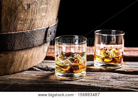 Two Glasses Of Scotch In The Old Cellar