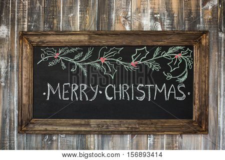 Christmas Wood Background
