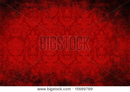 Grungy red velvet antique wallpaper
