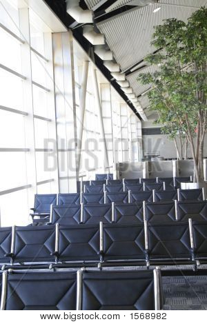 Empty Airport Gate