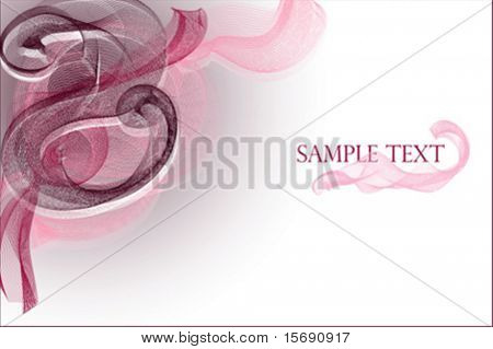 Pink and burgundy abstract swirls