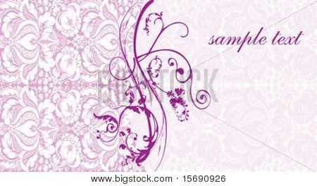 Elegante Rosa swirly Hintergrundbild