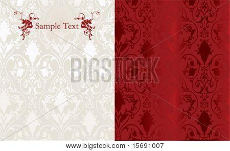 Elegant red vector wallpaper