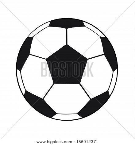 Football Ball Isolated On White Background - Soccer Ball Sport Equipment Vector Flat Stock