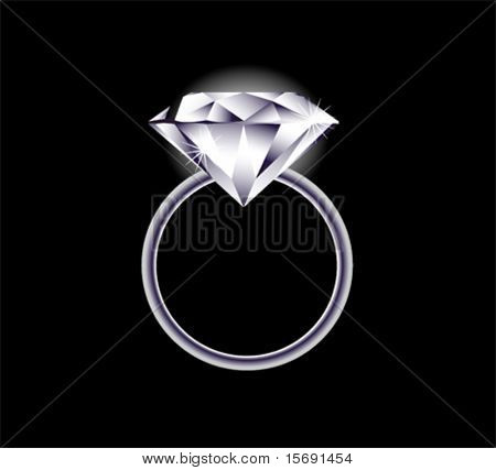 Vector image of a diamond ring