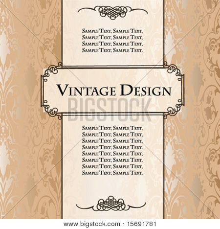 Vintage design wallpaper label or template