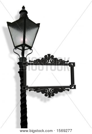 Lantern With Blank Sign