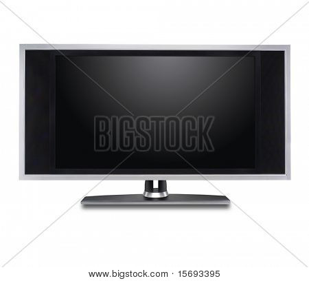 Flat screen tv isolated in white
