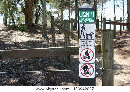 Emergency Location Sign Hervey Bay Queensland Australia