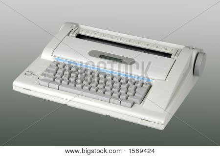 Typewriter On Neutral Background