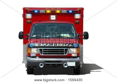 Krankenwagen Ssolated auf weißem Hintergrund