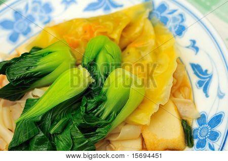 Steamed Dumplings With Leafy Vegetables