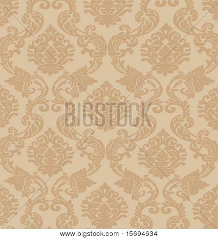 Baroque wallpaper background image, vector